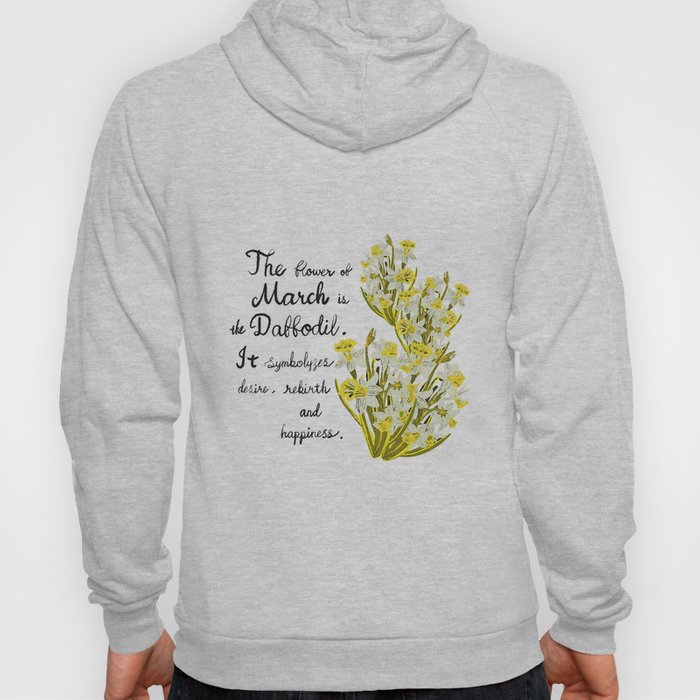 Daffodil - Birth Month Flower for March Hoody