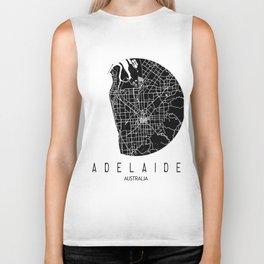 Adelaide White Round Biker Tank
