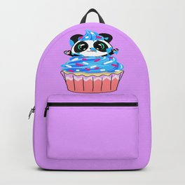 A Panda Popping out of a Cupcake Backpack