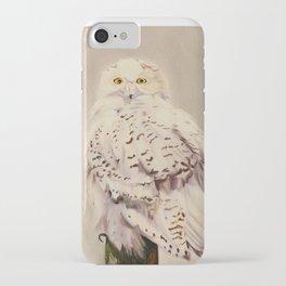 Snowy Owl Print iPhone Case