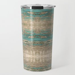 Rustic Wood - Beautiful Weathered Wooden Plank - knotty wood weathered turquoise paint Travel Mug