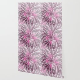 Abstract Pink Floral Dream Wallpaper