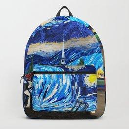 Tardis Art Starry City Night Backpack