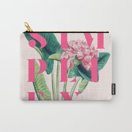 Simplify. #society6 #decor #buyart Carry-All Pouch