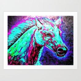 Neon Horse Art Print