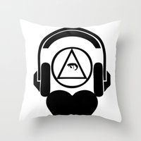 code Throw Pillows featuring CODE by LoveArtMusic®