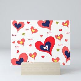 The hearts of Saint Valentines' Day Mini Art Print