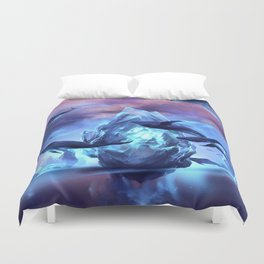 When the moon is closer Duvet Cover