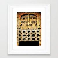 door Framed Art Prints featuring Door by Saundra Myles
