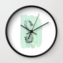 S Letter Wall Clock