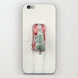 Christmas Eve in a hurry iPhone Skin