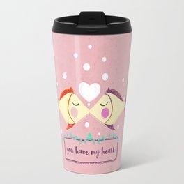 VALENTINE'S FISH IN LOVE Travel Mug