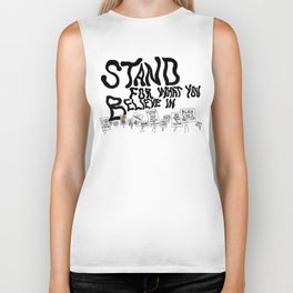 Stand For What You Believe In Biker Tank