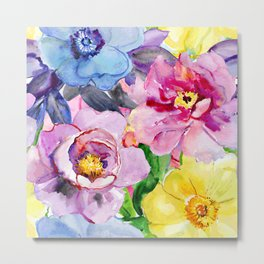 Beautiful and Colorful Flowers Metal Print
