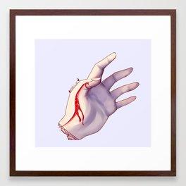 Marble Gore Framed Art Print