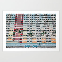 Rainbows at Choi Hung Art Print