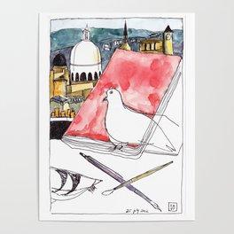 Birds Journals Paris Poster