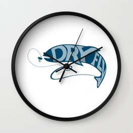Trout Catching Bait Dry Fly Retro Wall Clock