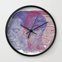 tupac Wall Clocks featuring You Got the Juice Now, Kid by Dazed N Amused