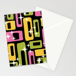 Retro Mid Century Modern Abstract Pattern 616 Stationery Cards