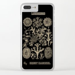 """""""Lichenes"""" from """"Art Forms of Nature"""" by Ernst Haeckel Clear iPhone Case"""