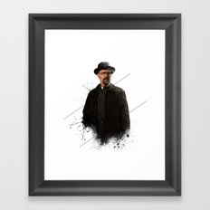 Mr. White Framed Art Print