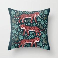 Safari Tiger by Andrea Lauren  Throw Pillow