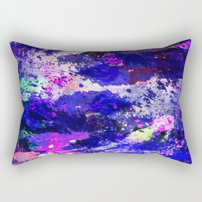 Freedom - Abstract In Blue And Purple Rectangular Pillow