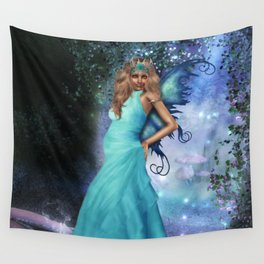 Crystal Blue Wall Tapestry