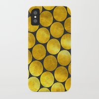 gold dots iPhone & iPod Cases featuring Gold Polka Dots by Juste Pixx Designs