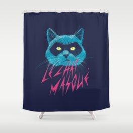 Le Chat Masqué Shower Curtain