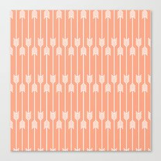 Peach and White Arrows /// www.pencilmeinstationery.com Canvas Print