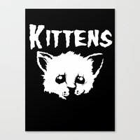 goth Canvas Prints featuring Goth Kittens by Ludwig Van Bacon