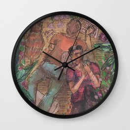 gay and tropical Wall Clock