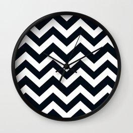 Rich black (FOGRA29) - black color - Zigzag Chevron Pattern Wall Clock