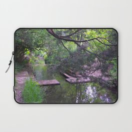 A Shady Path by the Stream Laptop Sleeve