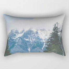 Glacier Roads Rectangular Pillow