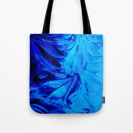 PETAL PINWHEELS - Deep Indigo Blue Royal Blue Turquoise Floral Pattern Swirls Ocean Water Flowers Tote Bag