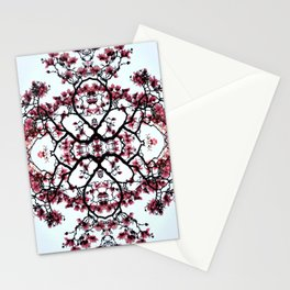 magnolia silhouette Stationery Cards