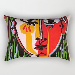 Head of a woman in a Hat Picasso Rectangular Pillow