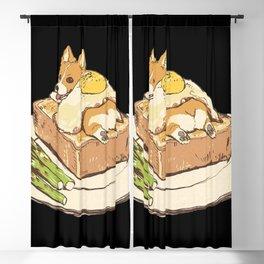 dog on sandwich Blackout Curtain