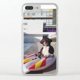 tomando el sol Clear iPhone Case