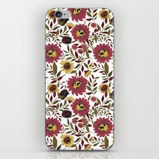 PUGS FLORAL iPhone & iPod Skin