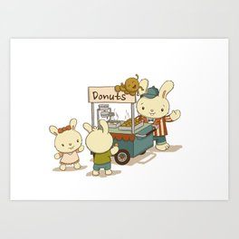 Mini Donuts Food Cart Art Print