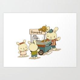 Mini Donuts Food Cart Art Print
