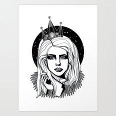 Queen of the night Art Print