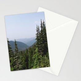Mount Rainier Summer Adventure VII - Pacific Northwest Mountain Landscape Stationery Cards