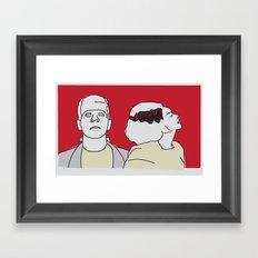 Monster & his Bride Framed Art Print