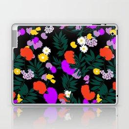 Vintage Mod Forest Floral in Black Laptop & iPad Skin