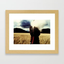 Only The Wind Knows How To Catch Me. Framed Art Print